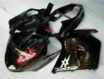 MS Injection Red Flame Fairing ABS Kit Fit for Honda 1996-2007 CBR1100XX u018