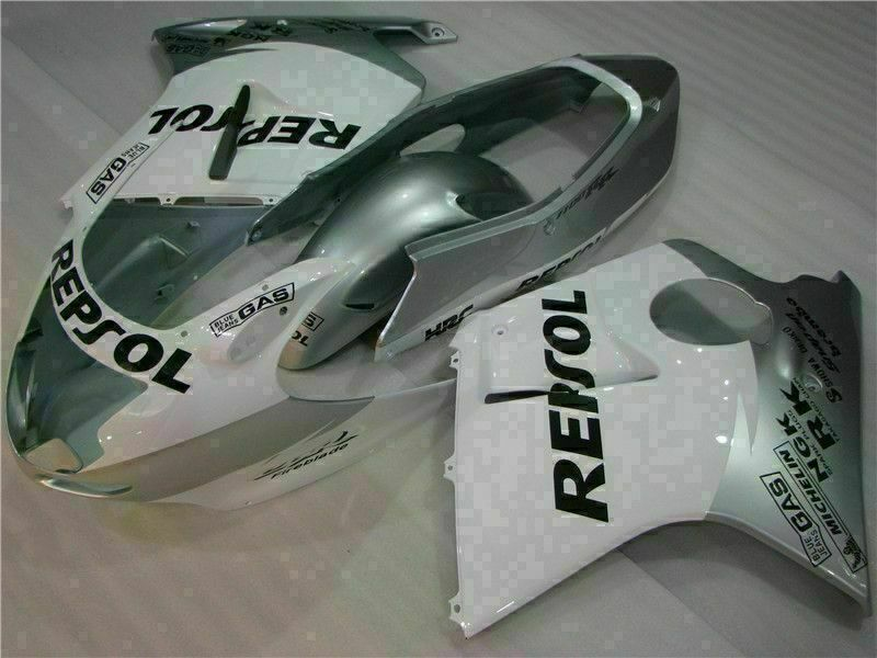 MS Injection White Silver Fairing ABS Kit Fit for Honda 1996-2007 CBR1100XX u020