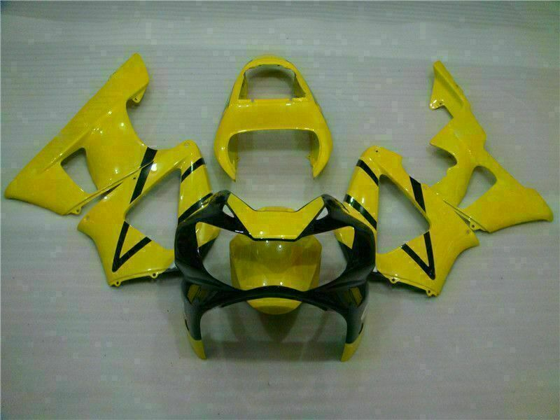 MS Injection Mold Fairing Yellow Set Fit for ABS Honda CBR929RR 2000-2001 u012