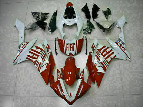 MSB Injection New Red White Plastic Fairing Fit for Yamaha 2007-2008 YZF R1 g041