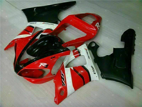 MSB Injection Mold Kit Red ABS Fairing Fit for Yamaha 2000-2001 YZF R1 i001-02