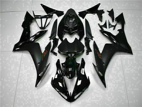 MSB Injection Black Plastic Fairing Fit for Yamaha 2004-2006 YZF R1 ABS j004-02