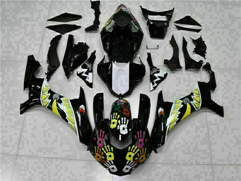 MS Injection Mold New Kit Black ABS Fairing Fit for Yamaha 2015-2017 YZF R1 g004