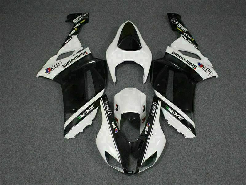 MSA Fit for Kawasaki 2007 2008 ZX6R Plastics With Seat Cowl Injection Fairing t004-T