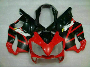 MS Injection Red Black Fairing ABS Kit Fit for Honda 2004-2007 CBR600 F4I u002