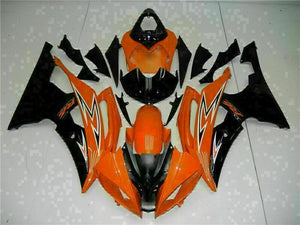 MS Injection Mold Orange Black Fairing Fit for Yamaha 2008-2015 YZF R6 g020