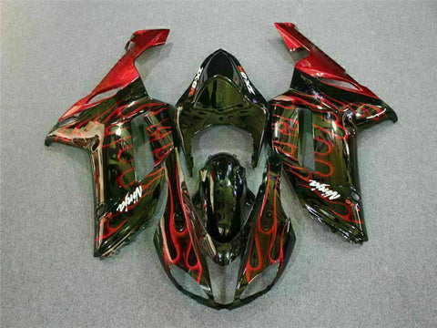 MSA Fit for Kawasaki 2007 2008 ZX6R Plastics With Seat Cowl Injection Fairing t005-T