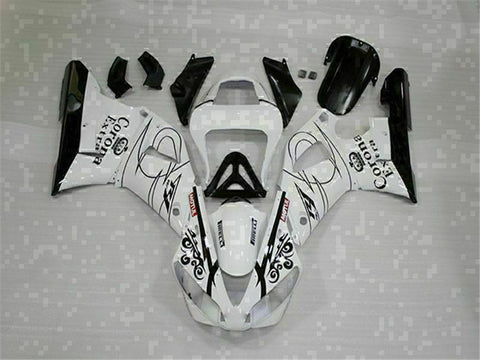 MSB Injection Mold Kit White ABS Fairing Fit for Yamaha 2000-2001 YZF R1 g012