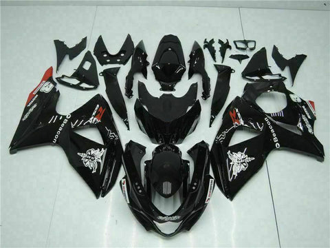 MS Injection Kit Black Fairing ABS Kit Fit for Suzuki 2009-2016 GSXR 1000 p034