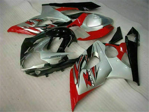 MS Injection Plastic Red White Fairing Fit for Suzuki 2005-2006 GSXR 1000 r029