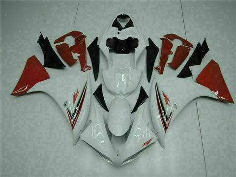 MSB Injection White Red Plastic Fairing Kit Fit for Yamaha YZF R1 2009-2011 j003