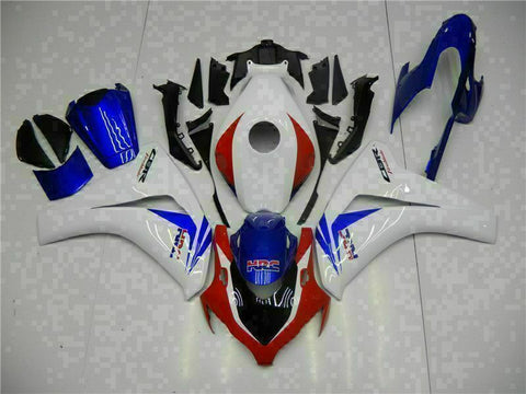 MS Injection New Set White Blue Fairing Fit for Honda 2008-2011 CBR1000RR u087