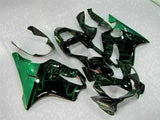 MS Injection Green Flame Fairing Plastic Fit for Honda 2001-2003 CBR600 F4I u029
