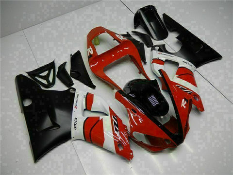 MSB Injection Mold Kit Red Black Fairing Fit for Yamaha 2000-2001 YZF R1 h001-01