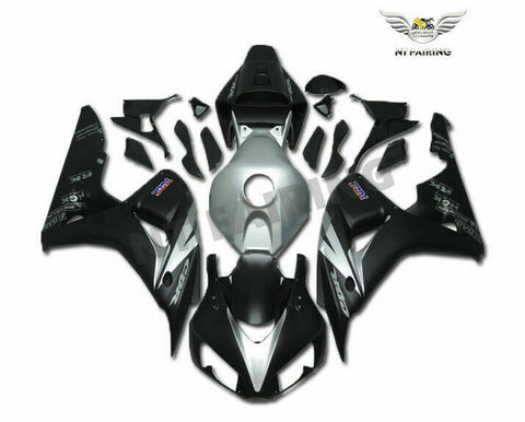 MS Injection New Silver Black Fairing Fit for Honda 2006-2007 CBR1000RR u0118