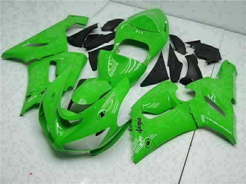 Fit for Kawasaki Ninja 2005-2006 ZX6R 636 Green Injection Fairing Kit t010-T Available in TX