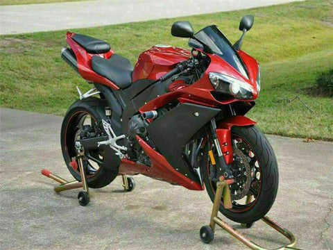 MSB Injection New Red Black Plastic Fairing Fit for Yamaha 2007-2008 YZF R1 f004
