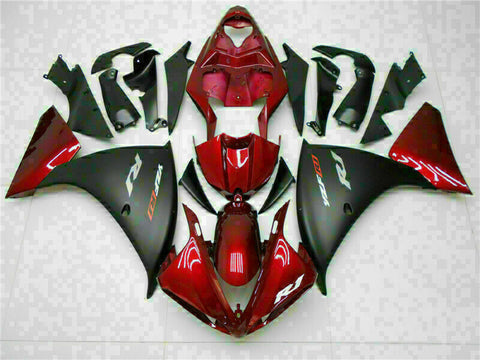 MSB Injection Kit Red Plastic Fairing Kit Fit for Yamaha YZF R1 2009-2011 j001