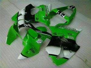 MS Fit for Kawasaki 2000-2002 ZX6R Plastic Green Black Injection Fairing ABS t024