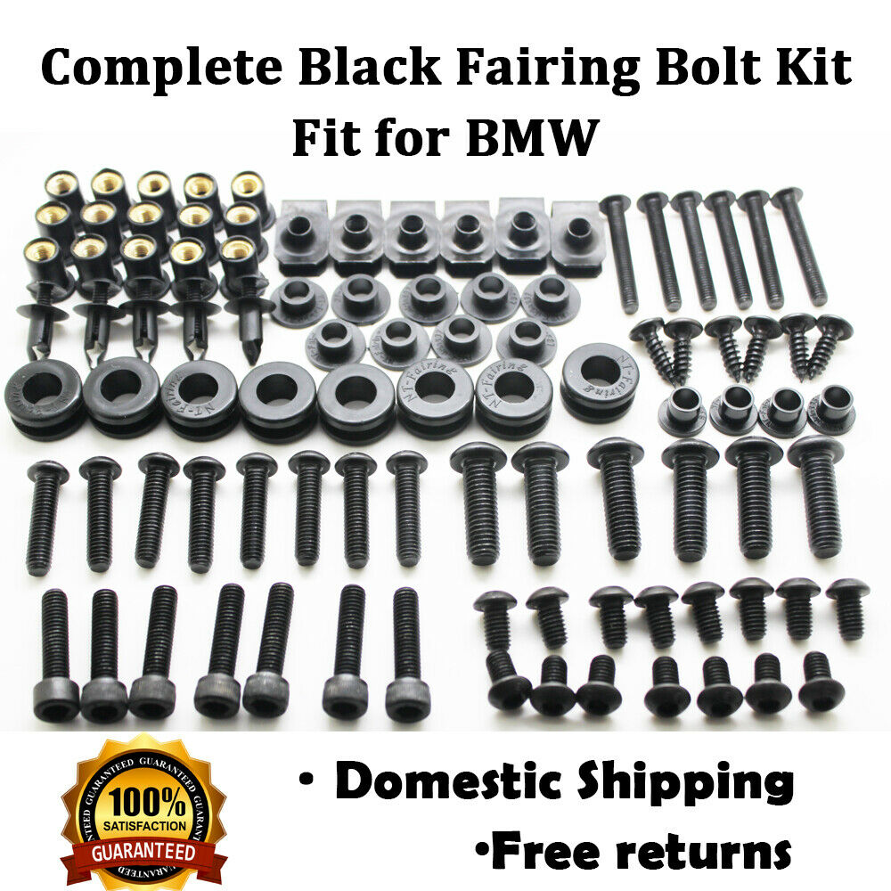 Complete Black Fairing Bolt Kit Screws Fit for BMW R1200RT F800GT S1000RR K1300S