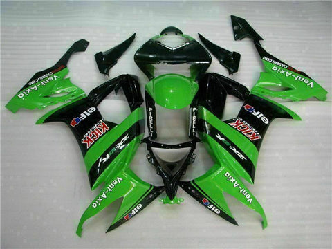 MSA Fit for Kawasaki 2008-2010 ZX10R ZX-10R ABS Green Black Injection Fairing t012-T