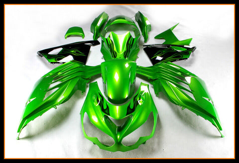NT Fairing Kit Fit for Injection ZX14R ZZR1400 2012-2017 Green£¦Black Set e004A