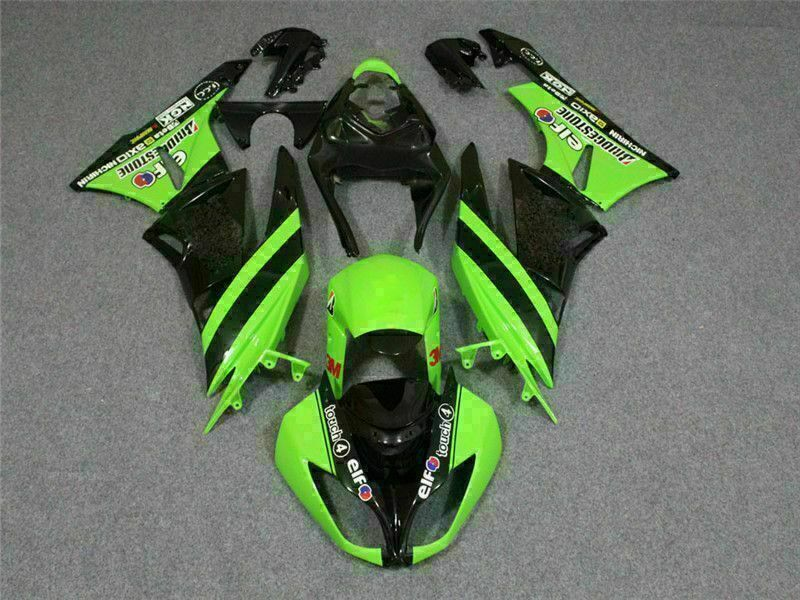 MSA Injection Fairing Fit for Kawasaki 2009-2012 ZX6R Plastic With Seat Cowls t023-T