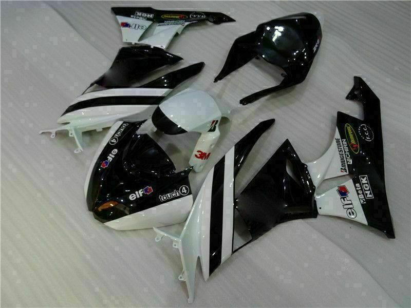 MSA Injection Fairing Fit for Kawasaki 2009-2012 ZX6R Plastic With Seat Cowls t026-T