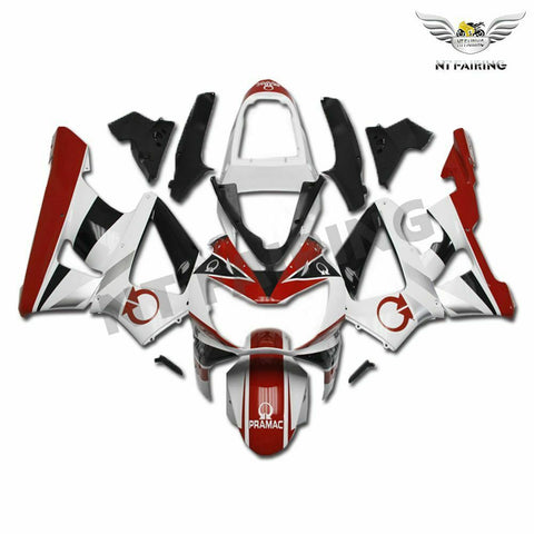MS Injection Mold Fairing Red White Set Fit for Honda 2000-2001 CBR929RR u028