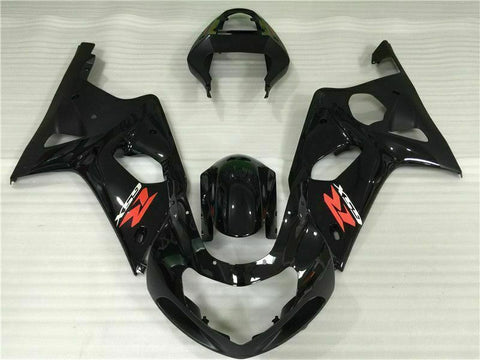 MS Injection Mold Black Fairing ABS Kit Fit for Suzuki 2000-2002 GSXR 1000 o005
