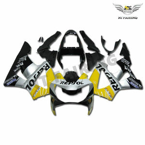 MS Injection Mold Yellow Silver Fairing Fit for Honda 2000-2001 CBR929RR u002