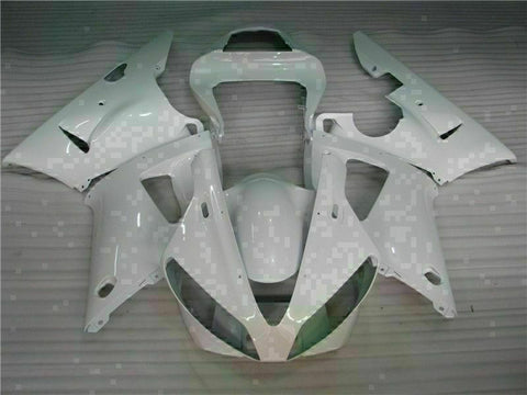 MSB Injection Molding White Plastic Fairing Fit for Yamaha 2000-2001 YZF R1 g016