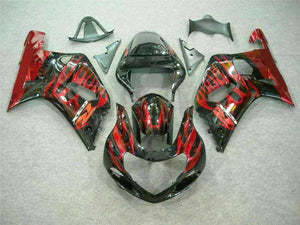MSB Injection  Red Black Fairing Fit for Suzuki 2001-2003 GSXR 600 750 n034