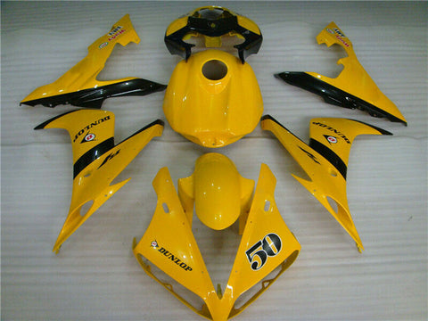 MSA Yellow Tank Cover Injection ABS Fairing Fit for Yamaha 2004-2006 YZF R1 u035