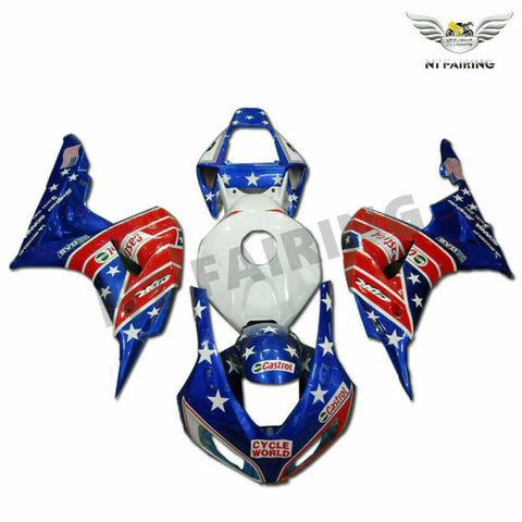 MS Injection Blue Red White Kit Fairing Fit for Honda 2006-2007 CBR1000RR u015