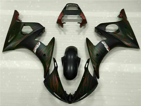 MS Injection Red Flame Black Fairing Fit for Yamaha YZF 2003-2005 R6&06-09 R6S g016