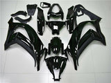 Fit for Kawasaki 2011-2015 ZX10R Plastic Glossy Black Injection Fairing n0u-A