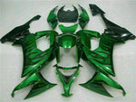 MSA Fit for Kawasaki 2008-2010 ZX10R ZX-10R ABS Green Flame Injection Fairing t001