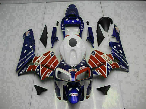 MSA Injection Blue Kit ABS Plastic Fairing Fit for Honda 2003-2004 CBR600RR u072