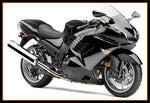 NT Glossy Black Fairing Fit for ZZR1400 ZX14R 2006-2011 Injection Mold b008