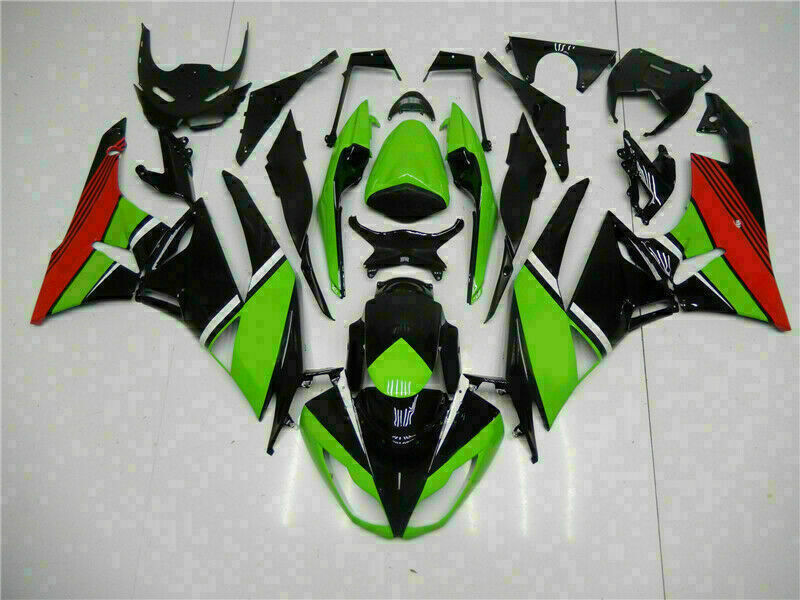 MSA Injection Fairing Fit for Kawasaki 2009-2012 ZX6R Plastic With Seat Cowls t006