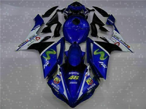 MSB Injection New Blue Plastic Fairing Fit for Yamaha 2007-2008 YZF R1 g038