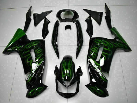 MSA Fit for Kawasaki Ninja 650R 2006-08 ER6F Green Flame Fairing Kit ABS t003
