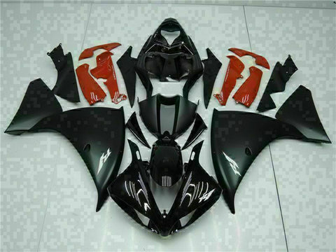 MSB Injection Black Red Plastic Fairing Kit Fit for Yamaha YZF R1 2009-2011 g012