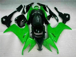MSA Fit for Kawasaki 2008-2010 ZX10R ZX-10R ABS Green Black Injection Fairing t004-T