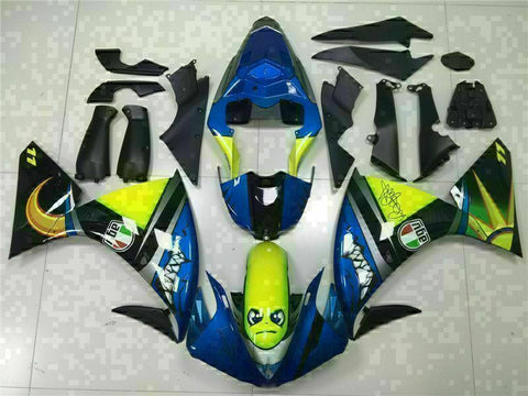 MSB Injection Blue Plastic Fairing Kit Fit for Yamaha YZF R1 2009-2011 g033