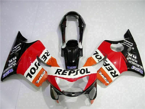 MS Red Black Orange Fairing Injection Fit for Honda 1999-2000 CBR600 F4 ABS t033