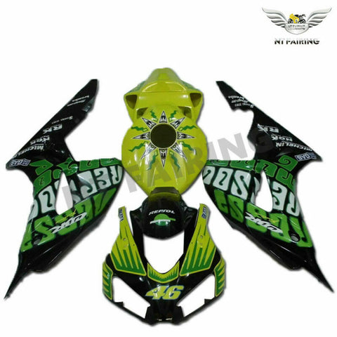 MS Injection Yellow Green Plastic Fairing Fit for Honda 2006-2007 CBR1000RR u074