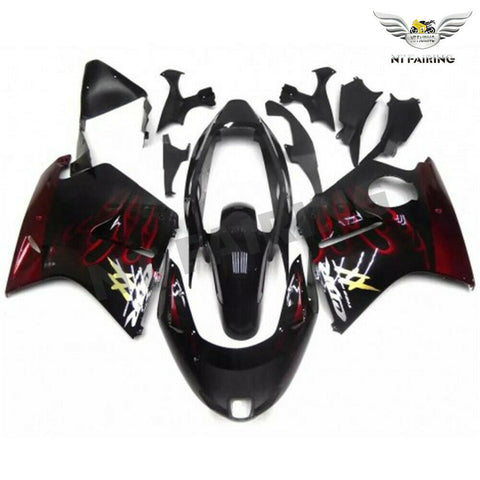 MSA Injection  Fairing ABS Red Flame Fit for Honda 1996-2007 CBR1100XX u012