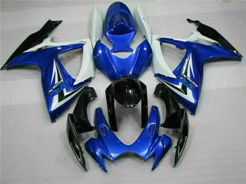 MSB Injection Mold Blue Fairing Kit Fit for Suzuki 2006 2007 GSXR 600 750 o065